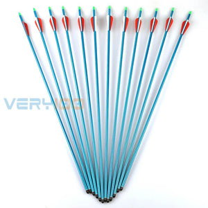 "12PCS 30"" Aluminum Arrows Plastic feather sp300 for 30-80lb Compound Bow Blue-outdoor sports-Hunting & Fishing Stuff-Hunting & Fishing Stuff"