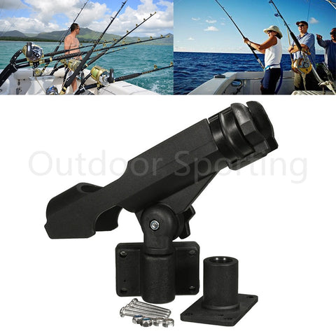 Image of Boat Rotatable Fishing Support Rod Holder With Screws Accessory Tool-outdoor sports-Hunting & Fishing Stuff-Hunting & Fishing Stuff