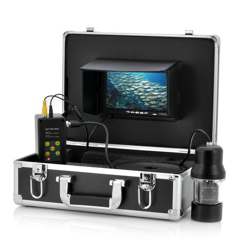 Image of GAMWATER HD SONY CCD Underwater Fishing Camera 0-360 Degree View, Remote Control, 7 Inch LCD Monitor, 14x White Lights 20M 50M-Hunting & Fishing Stuff-China-Cable 20M-Hunting & Fishing Stuff
