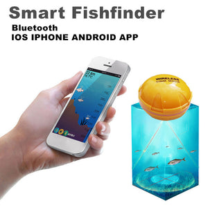 JOSHNESE New Arrive 1*Fish Tools Fishfinder Wireless Sonar Fish Finder Sea Lake Fish iOS Android App Fish Sounder Free Shipping!
