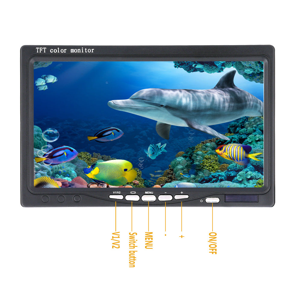 GAMWATER HD SONY CCD Underwater Fishing Camera 0-360 Degree View, Remote Control, 7 Inch LCD Monitor, 14x White Lights 20M 50M-Hunting & Fishing Stuff-China-Cable 20M-Hunting & Fishing Stuff