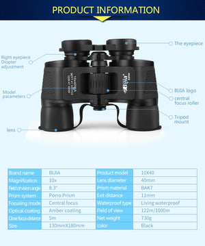 Wide Angle Hunting Sports Professional Binoculars High Definition Waterproof
