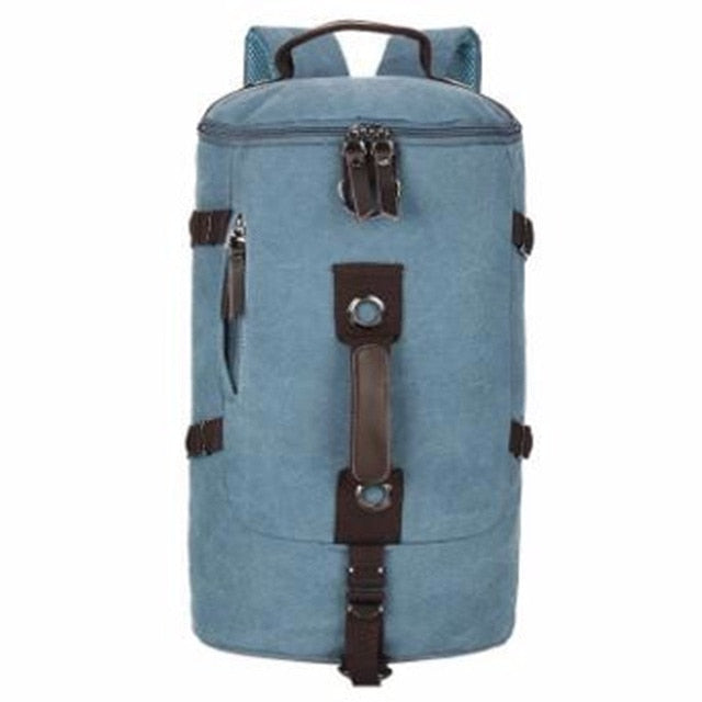 Canvas Duffel Backpack Camping-outdoor sports-Hunting & Fishing Stuff-Blue Color-United States-Hunting & Fishing Stuff