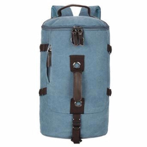 Image of Canvas Duffel Backpack Camping-outdoor sports-Hunting & Fishing Stuff-Blue Color-United States-Hunting & Fishing Stuff