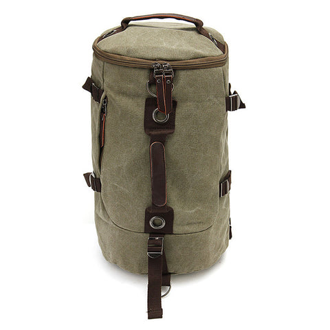 Image of Canvas Duffel Backpack Camping-outdoor sports-Hunting & Fishing Stuff-Dark Army Green-United States-Hunting & Fishing Stuff