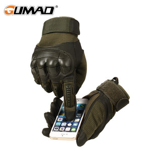 Touch Screen Outdoor Tactical Hard Knuckle Full Finger Gloves  Shooting Hunting Hiking Glove