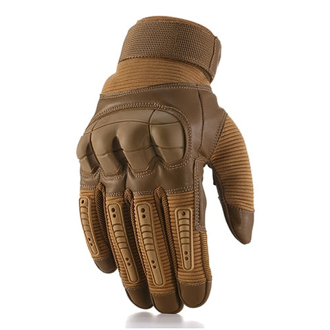 Touch Screen Outdoor Tactical Hard Knuckle Full Finger Gloves Shooting Hunting Hiking Glove-outdoor sports-Hunting & Fishing Stuff-Brown-S-United States-Hunting & Fishing Stuff