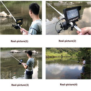 4.3 Inch Color DVR Recorder Monitor Underwater Fishing Video Camera Kit 8 Pcs IR LED Lights with Explosion fishing hooks