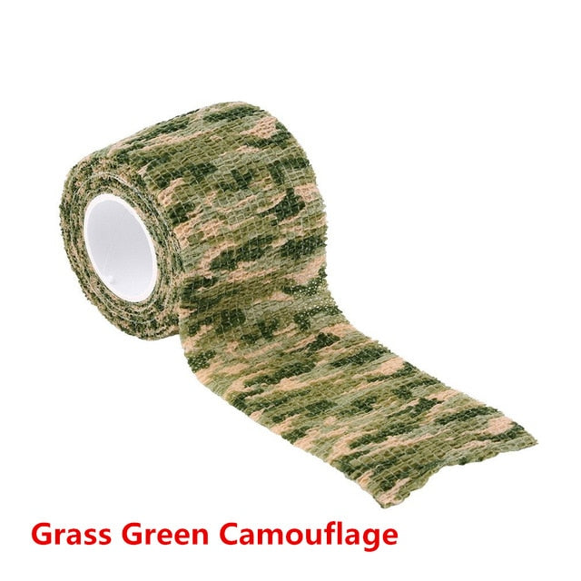 5cmx4.5m Army Camouflage Hunting Tape-Hunting & Fishing Stuff-Grass Green Camoufla-Hunting & Fishing Stuff
