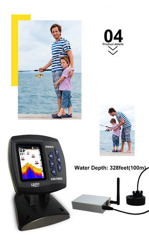 Lucky Fish Finder wired and wireless 2 in 1 Echo Sensor Sonar Fishfinder for Boat-outdoor sports-Hunting & Fishing Stuff-China-Hunting & Fishing Stuff