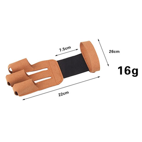3 Fingers Archery Leather Gloves-outdoor sports-Hunting & Fishing Stuff-United States-Brown-Hunting & Fishing Stuff