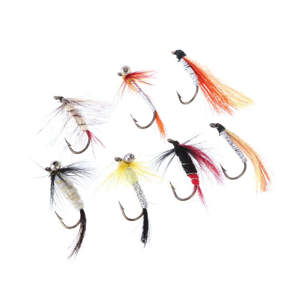 Fly Fishing Hooks with Feather-Hunting & Fishing Stuff-Hunting & Fishing Stuff