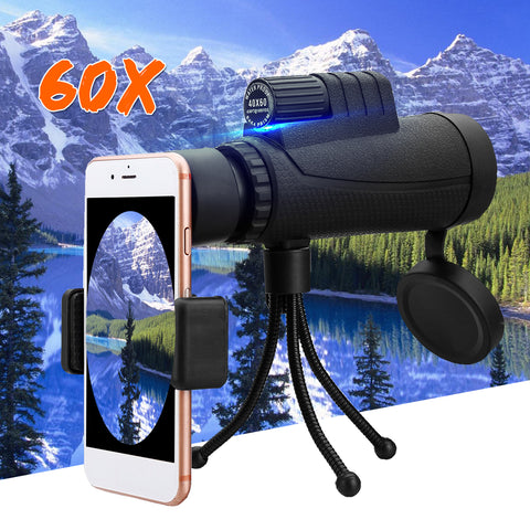40x60 Zoom HD High Power Telescope Monoculars Lens Single-cylinder Binoculars Hunting Camping + Tripod-outdoor sports-Hunting & Fishing Stuff-Hunting & Fishing Stuff