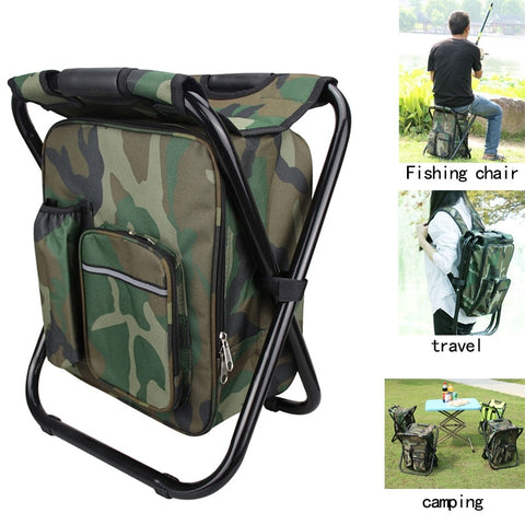 Foldable Camping Fishing Chair Stool Backpack with Cooler Insulated Picnic Bag Hiking Camouflage Seat Table Bag-outdoor sports-Hunting & Fishing Stuff-United States-ACU-Hunting & Fishing Stuff
