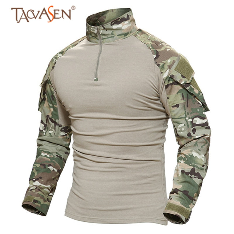 Tactical T-shirt Men Army Camouflage T Shirt Long Sleeve T-shirts Men Outdoor Fishing Hunting Shirts Cotton-outdoor sports-Hunting & Fishing Stuff-Acu-XXL-United States-Hunting & Fishing Stuff