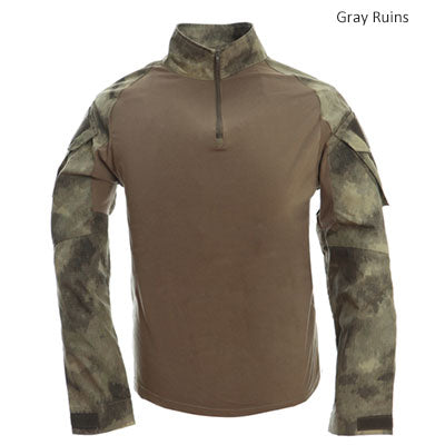 Tactical T-shirt Men Army Camouflage T Shirt Long Sleeve T-shirts Men Outdoor Fishing Hunting Shirts Cotton-outdoor sports-Hunting & Fishing Stuff-Gray ruins-XXL-United States-Hunting & Fishing Stuff