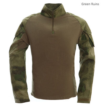 Image of Tactical T-shirt Men Army Camouflage T Shirt Long Sleeve T-shirts Men Outdoor Fishing Hunting Shirts Cotton-outdoor sports-Hunting & Fishing Stuff-Green ruins-XXL-United States-Hunting & Fishing Stuff