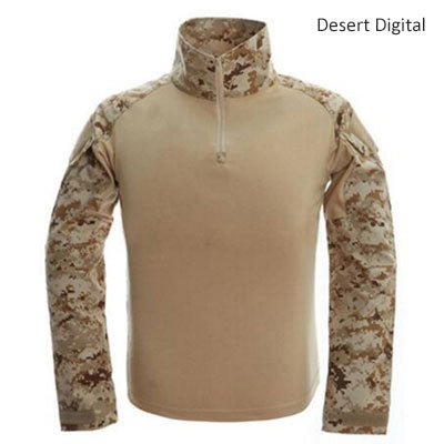 Image of Tactical T-shirt Men Army Camouflage T Shirt Long Sleeve T-shirts Men Outdoor Fishing Hunting Shirts Cotton-outdoor sports-Hunting & Fishing Stuff-Desert-XXL-United States-Hunting & Fishing Stuff