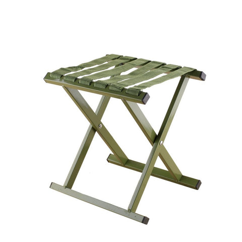 Image of Military Green Folding Outdoor Fishing Benches Aluminum Alloy Stools Fishing Chair Metal Mazar Bearing Load 250KG No skeleton-outdoor sports-Hunting & Fishing Stuff-Hunting & Fishing Stuff