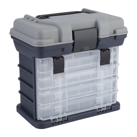 Image of Eco-Friendly Plastic Fishing Lure Hook Rig Bait Storage Case Tackle Box