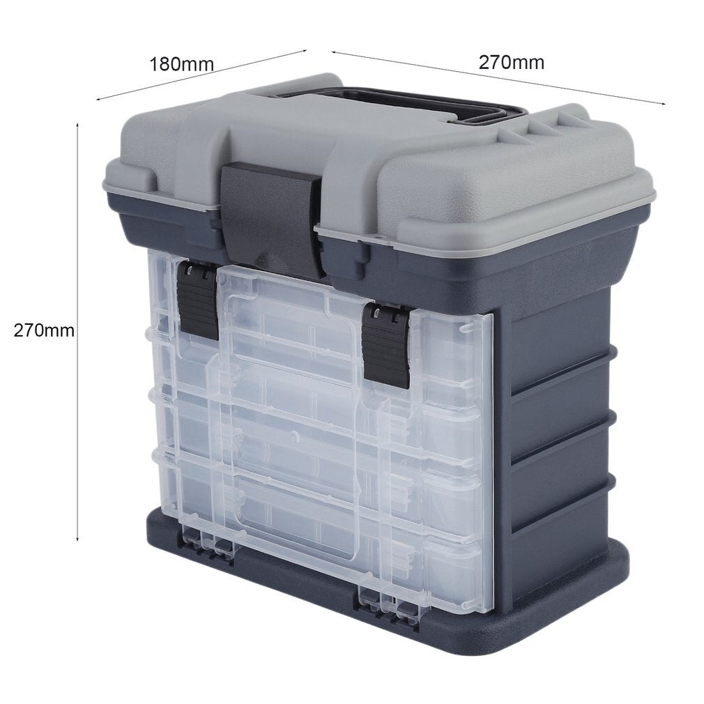 Eco-Friendly Plastic Fishing Lure Hook Rig Bait Storage Case Tackle Box