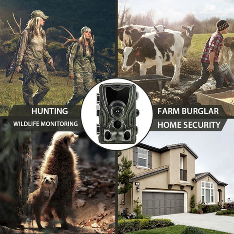 Image of Trail Cameras 0.3s Trigger Time Night Version Photo Wildlife Hunting Camera Surveillance-outdoor sports-Hunting & Fishing Stuff-Hunting & Fishing Stuff