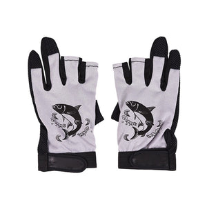 Three Fingerless Soft Breathable Anti-slip Gloves