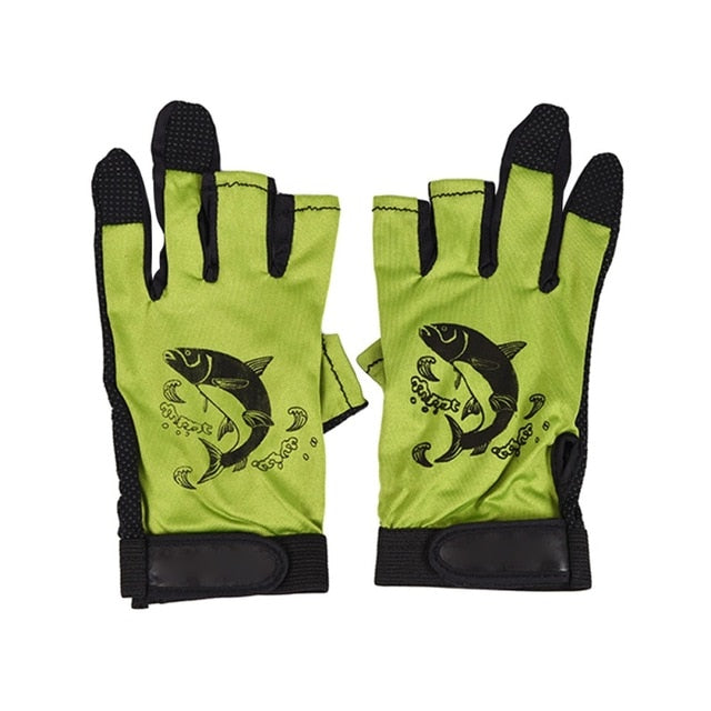 Three Fingerless Soft Breathable Anti-slip Gloves-outdoor sports-Hunting & Fishing Stuff-YELLOW-United States-Hunting & Fishing Stuff