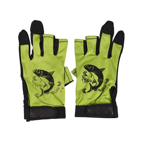 Image of Three Fingerless Soft Breathable Anti-slip Gloves-outdoor sports-Hunting & Fishing Stuff-YELLOW-United States-Hunting & Fishing Stuff