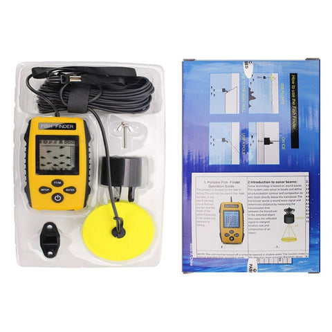 Image of Portable Dot Matrix Fish Finder Wired Sonar Sensor Fishing Detector 0.7-100M Depth Sounder Lake Sea Fishing Tackle TL88-outdoor sports-Hunting & Fishing Stuff-Hunting & Fishing Stuff