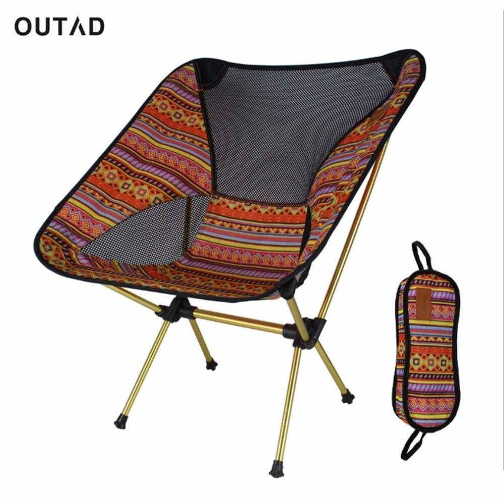 Portable Aluminum Alloy Outdoor Chair Lightweight Foldable Camping Fishing Travelling Chair with Backrest and Carry Bag-outdoor sports-Hunting & Fishing Stuff-Hunting & Fishing Stuff