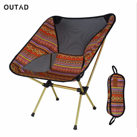 Image of Portable Aluminum Alloy Outdoor Chair Lightweight Foldable Camping Fishing Travelling Chair with Backrest and Carry Bag-outdoor sports-Hunting & Fishing Stuff-Hunting & Fishing Stuff