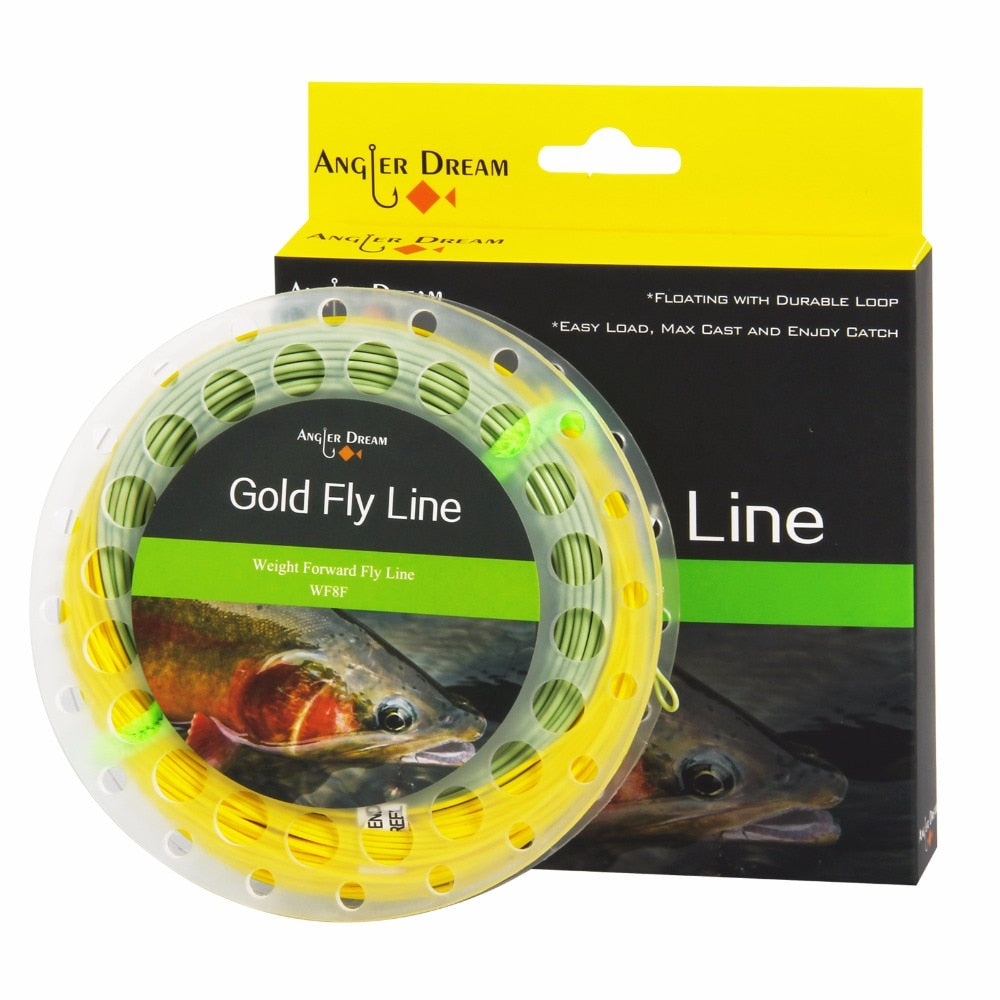 Double Color Fly Line WF Floating With Two Loops