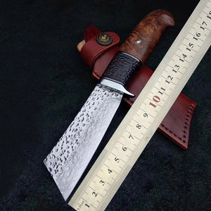 Handmade Tactical Army Survival Camping Knife VG10 Handle Hunting Outdoor Knife With Ebony Sheath 60 HRC Japanese Samurai Style-outdoor sports-Hunting & Fishing Stuff-Hunting & Fishing Stuff