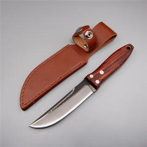 Japanese handmade camping high-carbon steel straight knife wood handle hunting-outdoor sports-Hunting & Fishing Stuff-Hunting & Fishing Stuff