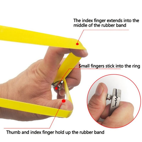 1pc Finger Ring Slingshot Outdoor Shooting Hunting 3 Colors Band Flat Rubber Elastic Catapult-outdoor sports-Hunting & Fishing Stuff-United States-Light green-Hunting & Fishing Stuff