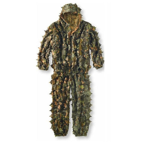3D Leaves Camouflage Poncho Cloak Stealth Suits Outdoor Woodland CS Game Clothing Universal for Hunting Shooting-outdoor sports-Hunting & Fishing Stuff-Hunting & Fishing Stuff