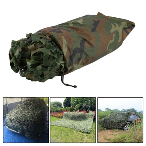 Image of 4X5M Large Size Jungle Camouflage Net Beach Tent Hunting Camping Military Camouflage Netting Sun Shelter Outdoor Car Shade Cover-outdoor sports-Hunting & Fishing Stuff-Hunting & Fishing Stuff