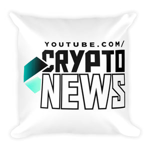 Crypto News Square Pillow