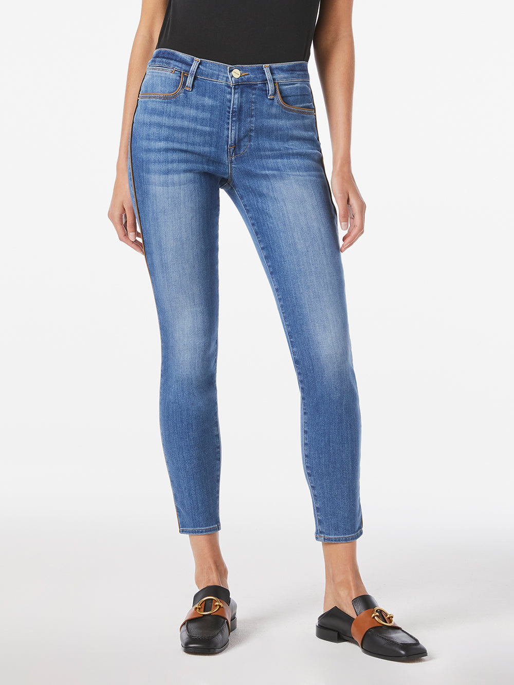 Side Piping Skinny Jeans