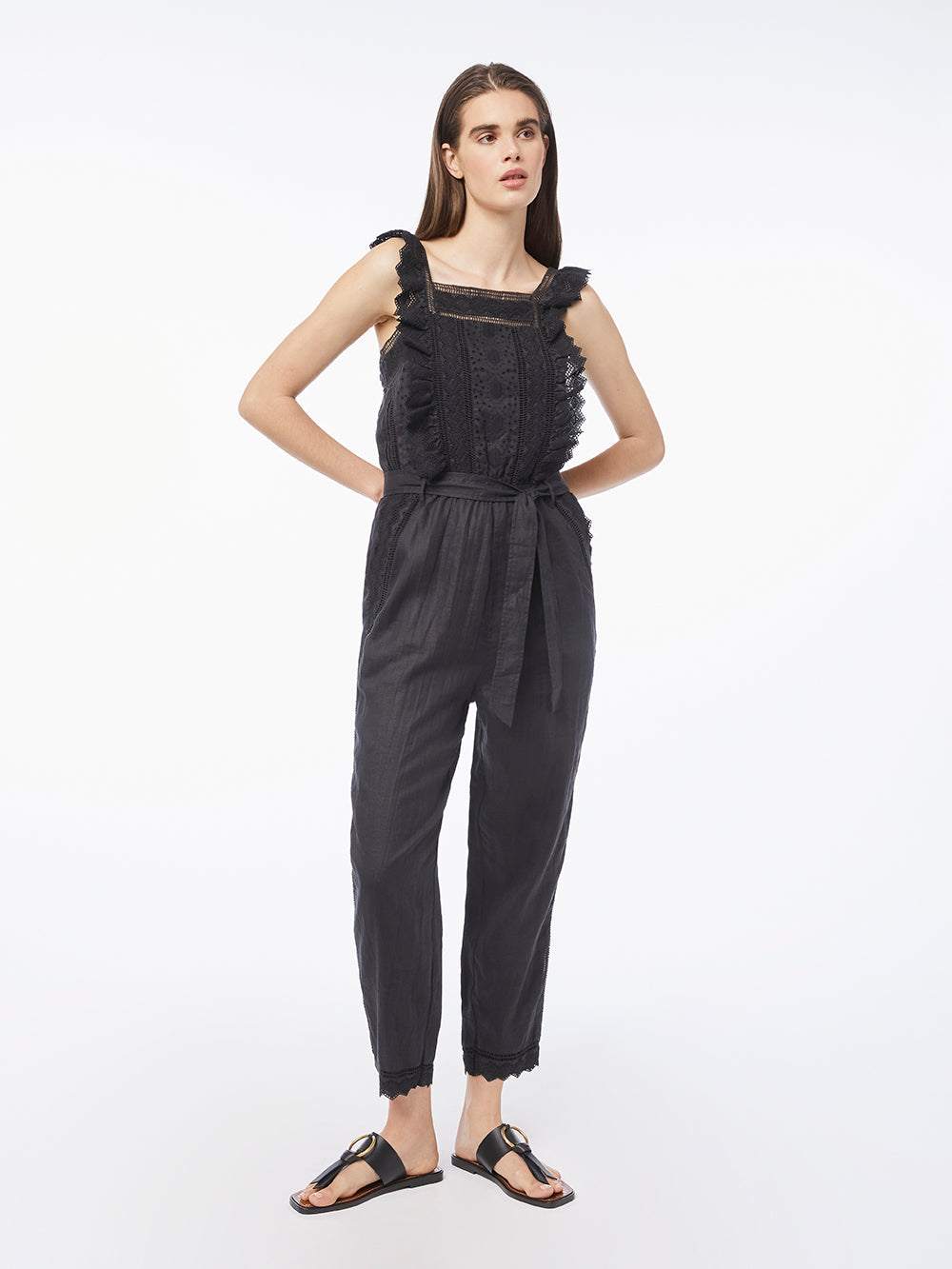 jumpsuit front full body view