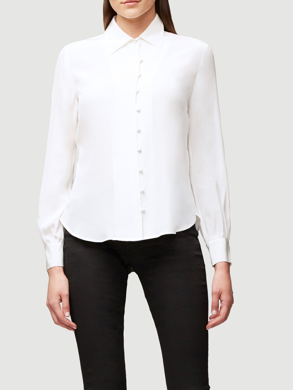 Pussy Bow Silk Blouse Frame