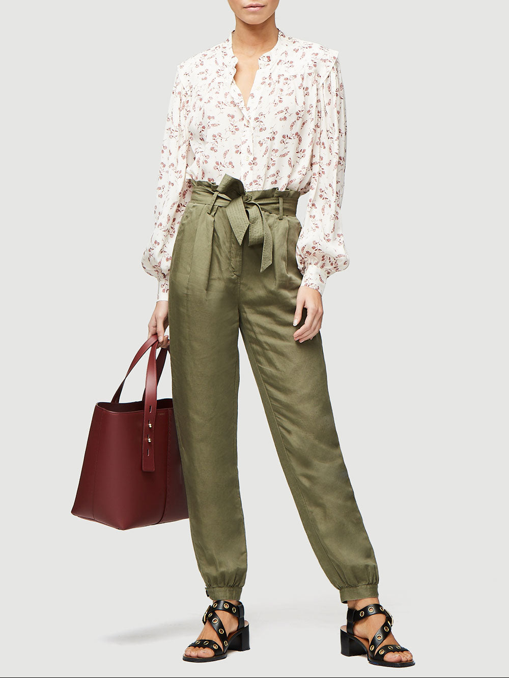 Paperbag Trouser -- Army Green
