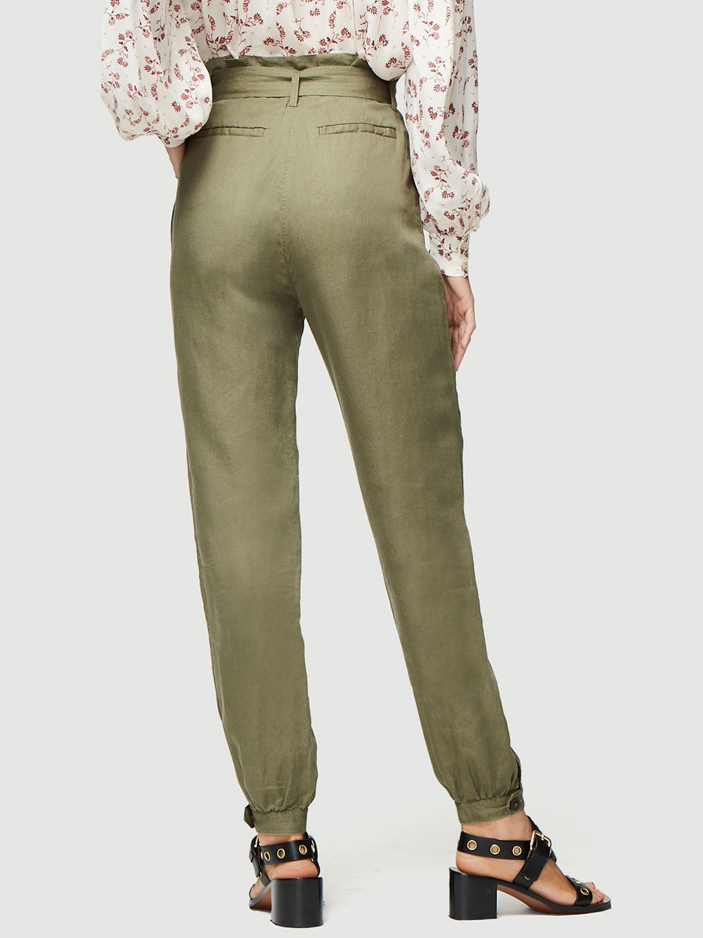 ef95e10815 Utilitarian Inspired, This Paperbag Trouser Channels A 70s Marrakesh Vibe.  Cut From A Breathable Linen Blend With A Self-Tie Belt, Style Yours With A  Ribbed ...