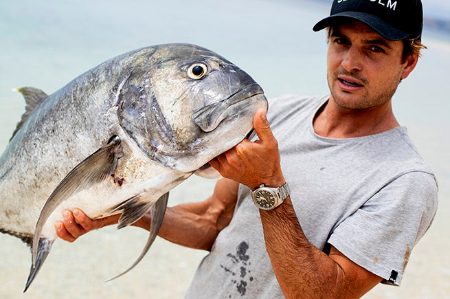 Jarrod White and a Giant Trevally