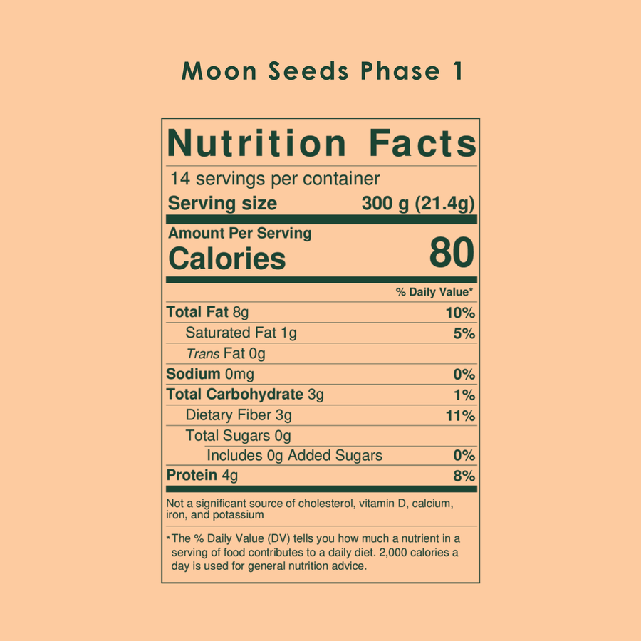 Organic Moon Seeds, 1-Month Supply