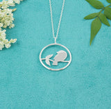 Beautiful Handcrafted Bird on Branch Necklace - Milly & Co.