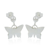 Dangly Butterfly Studs - Milly & Co.