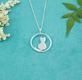 Sterling Silver Cat Necklace - Milly & Co.