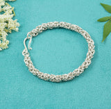 Sterling Silver Woven Link Bracelet - Milly & Co.